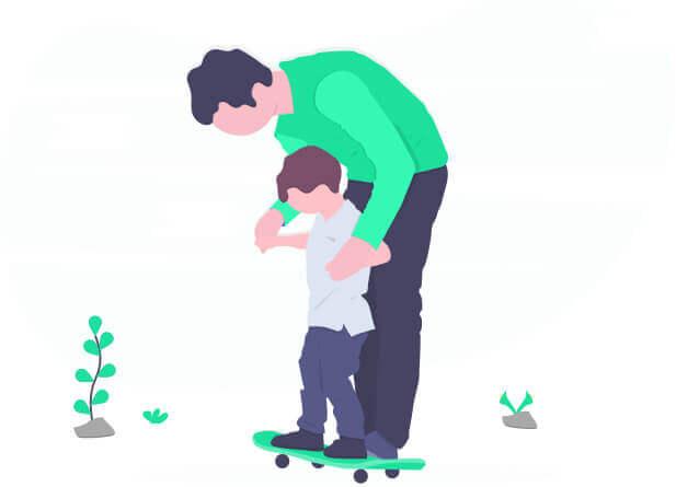 Imagem - Pai e criança